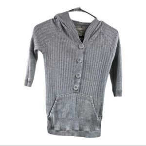 Heritage Hooded Short Sleeve Sweater size S
